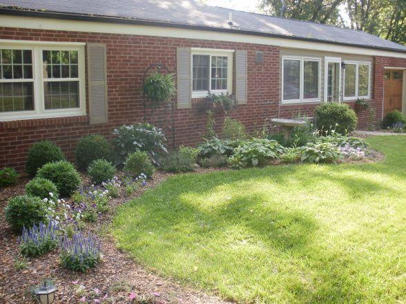 brick ranch landscaping