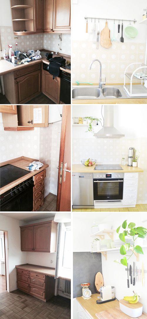 Makeover: Küche verschönern Vorher-Nachher (Teil 2 Küche