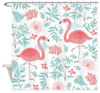 My 10 favorite flamingo shower curtains + 24 more ...