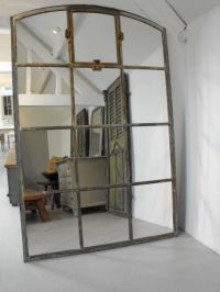 Large iron Industrial window mirror | Mirror Mirror on the ...