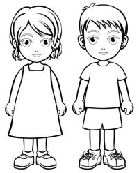 Boy Girl Coloring Page Boys And Girls Wear Colouring Pages ...