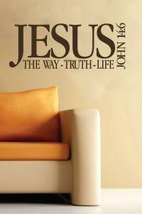 John 14:6 Scripture wall decor-Vinyl bible verse- Jesus ...