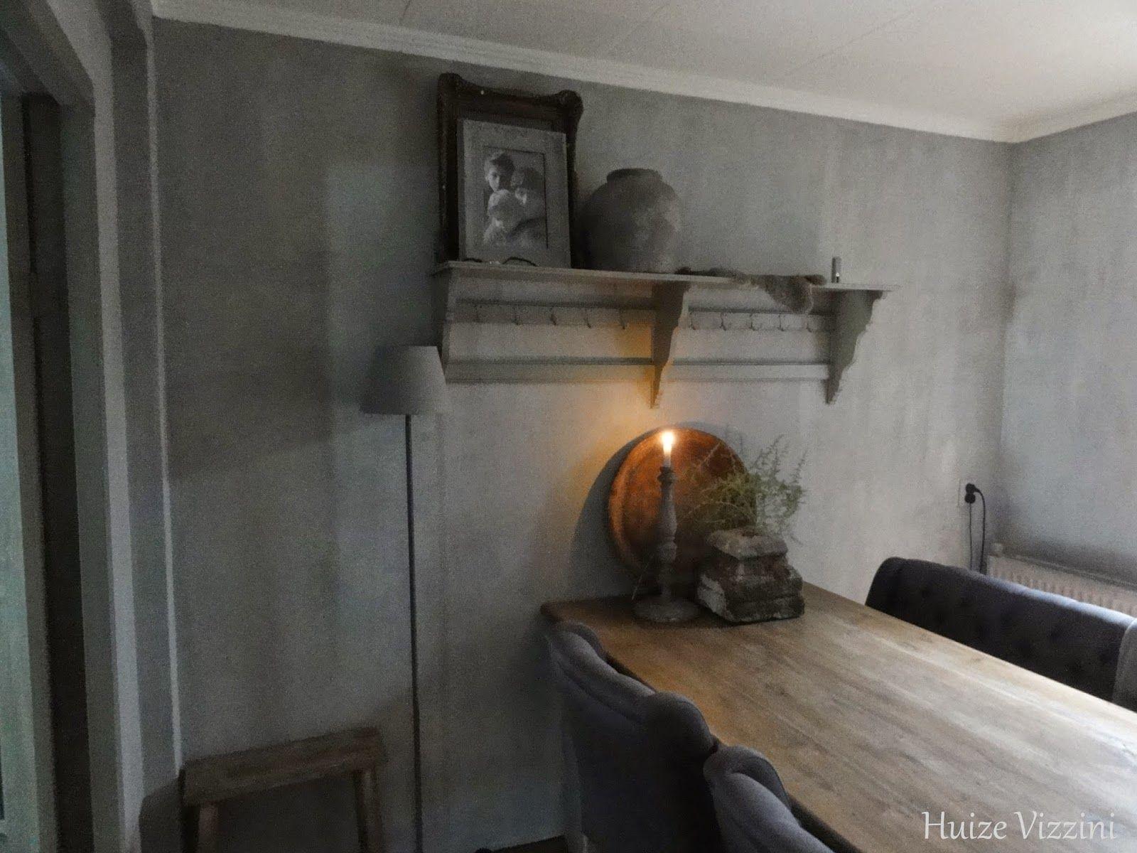 Betonlook Muur Woonkamer : Donkergrijze muur woonkamer slaapkamer klein groene muur