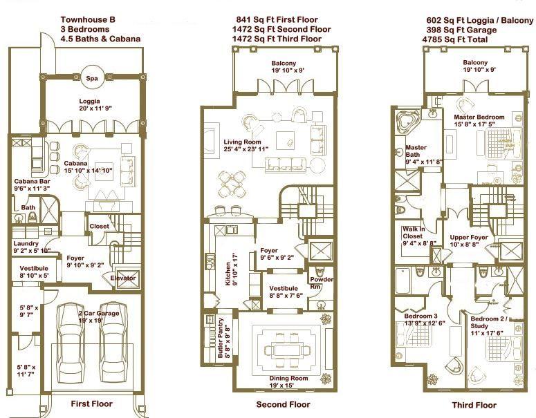 Modern Townhouse Floor Plans EWU