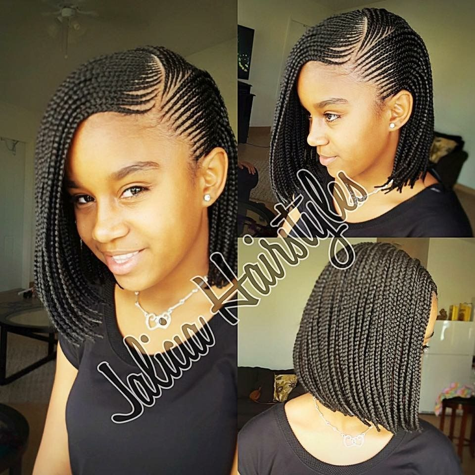 Cute braided bob!