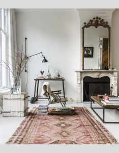 Great mirror over fireplace very nice rug floor to ceiling windows comfy couch possibly  chaise or daybed by window at least thats what  would also pin moutons blancs on nord pinterest lovers interiors and rh