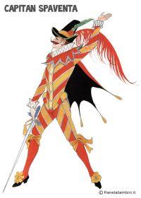 Capitan Spaventa: maschera tradizionale da stampare gratis ...