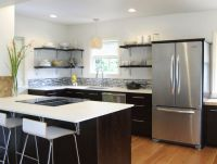 kitchen with shelves instead of cabinets | ... shelves ...