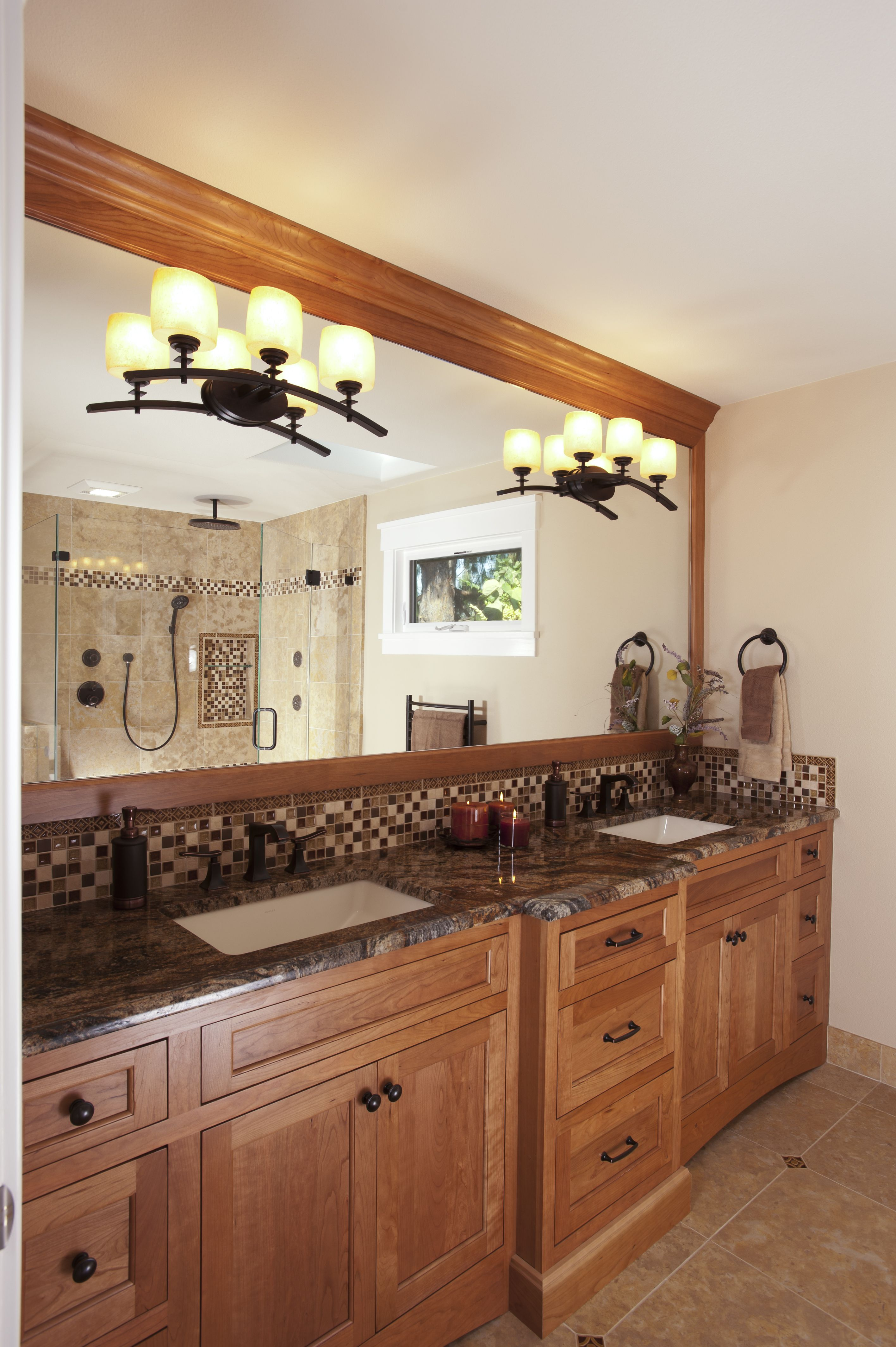 Cabinets Dynasty by Omega Uliano Door in Cherry wood and