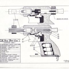Best Place To Shoot A Deer Diagram 1998 Honda Accord Ecu Wiring Cia Gun One Shot Pistol Cutaway Science