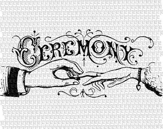 Wedding Ceremony Victorian Decorative Letter by