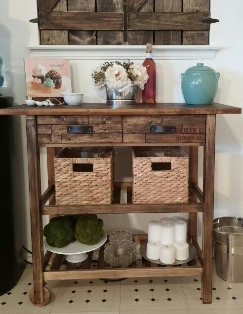 my beautiful ikea forhoja cart hack new drawer faces with leather handles love