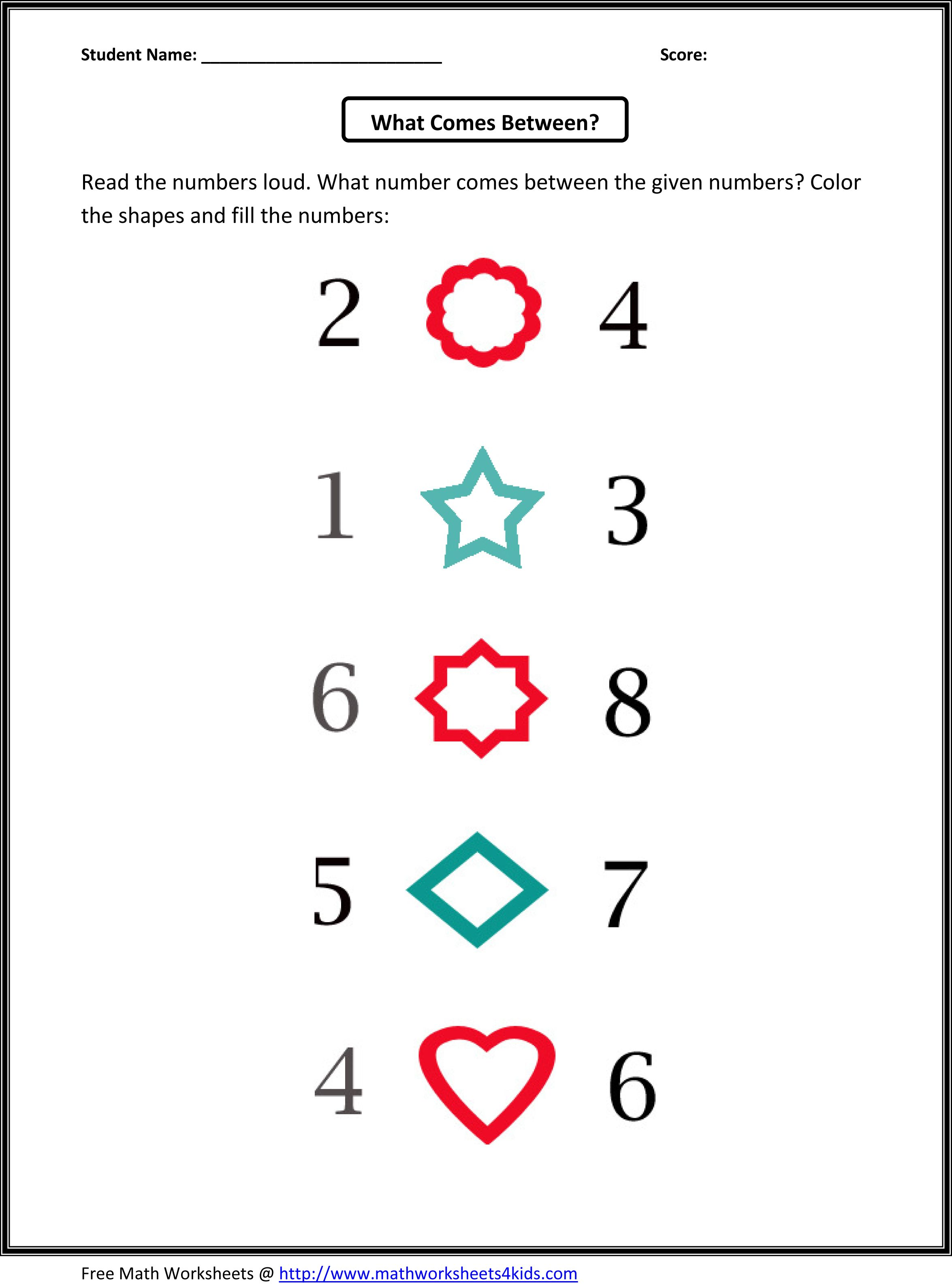 Kindergarten Counting Worksheets 1 10