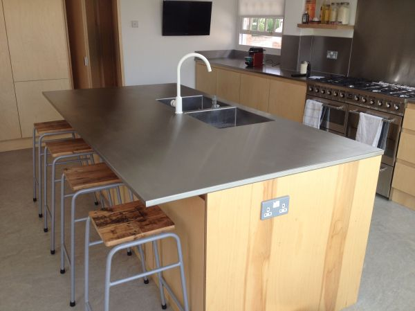 Great Stainless Steel Island Worktop With