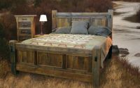 Handcrafted Reclaimed Wood Bed and Bedroom Furnture ...