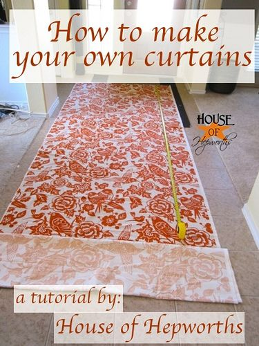 How To Sew Lined Curtain Panels Link To Making Your Own Curtain