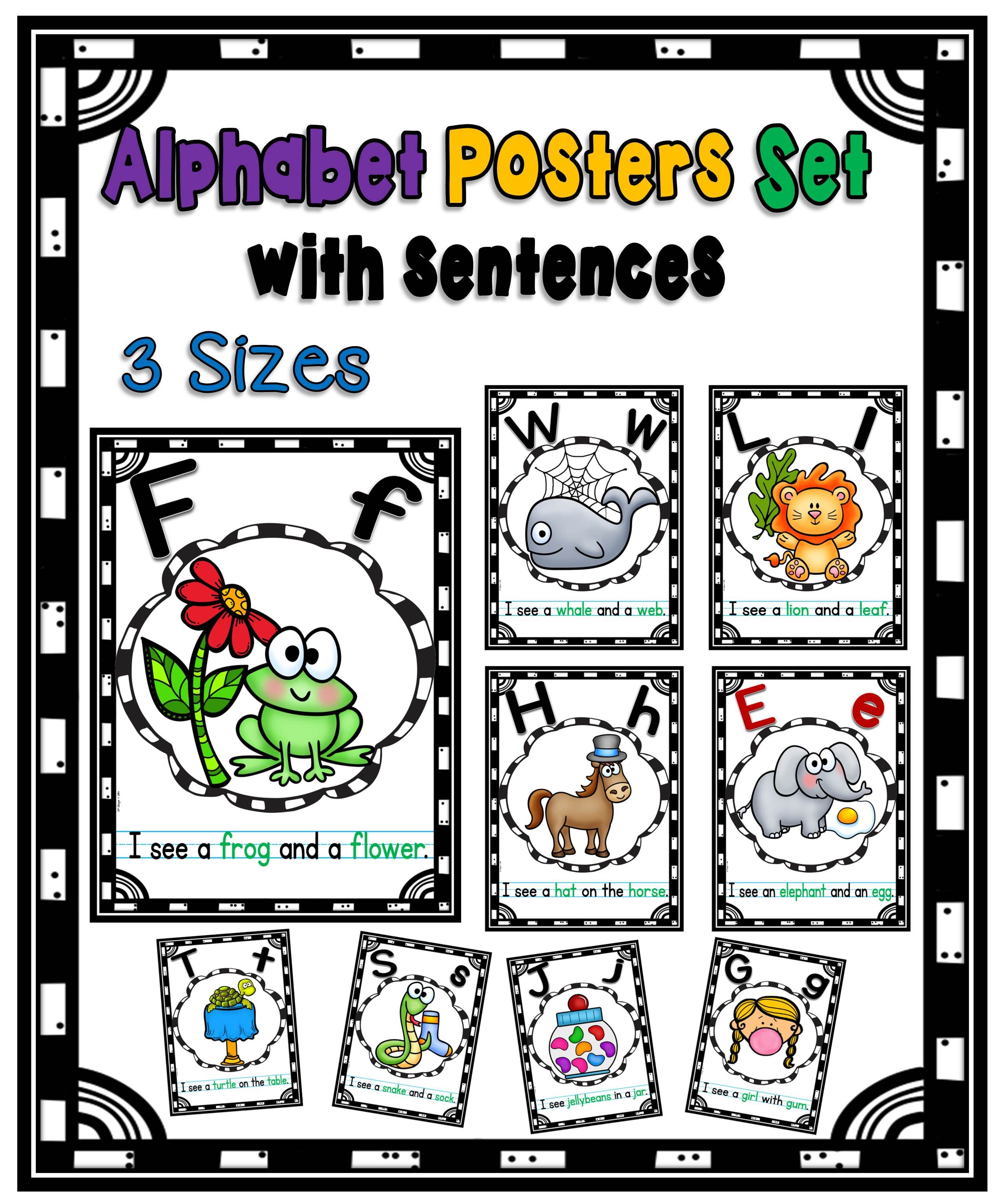 Here Is A Set Of Colorful Posters With Simple I See Sentences Each Poster Features The Letter