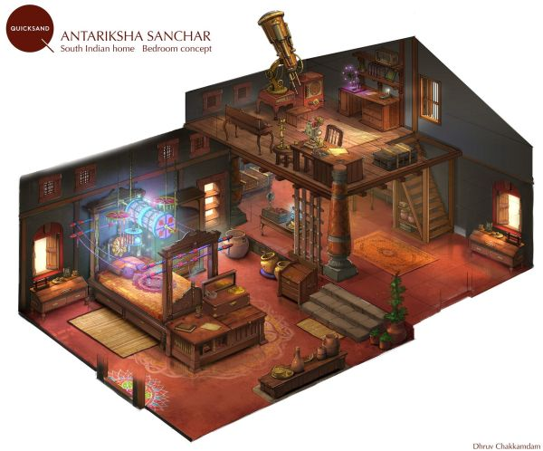 Artstation - South Indian Home Concept Dhruv Chakkamadam