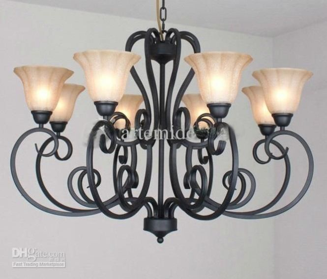 Rustic Traditional Black Wrought Iron Chandelier Dining Room Pendant Light Dia 92cm 439 13 Piece