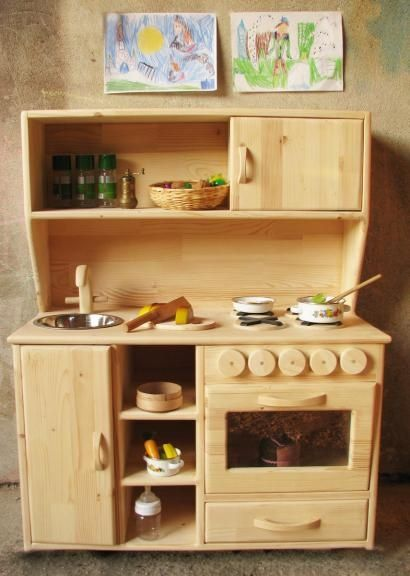 Teach Our Kids The Kitchens Life Using Wooden Play