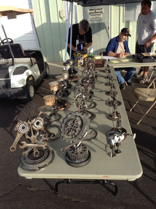 Lander Wy Fly-in & Car-show 2013 Awards Metal Art