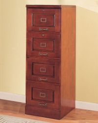 four drawer file cabinet wood