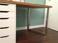 Office Makeover Part One: DIY Desk (IKEA Hack) | Desk ...