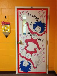 Dr. Seuss - Thing 1 and Thing 2 - Classroom door ...