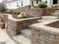Backyard Project Idea - terraced walls with stairs # ...