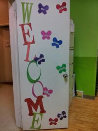 DIY: 'Welcome' door decor with fruits of the spirit for ...