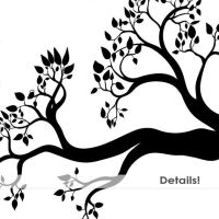 Tree Branch Silhouettes Leaves Branch ClipArt Tree door ...