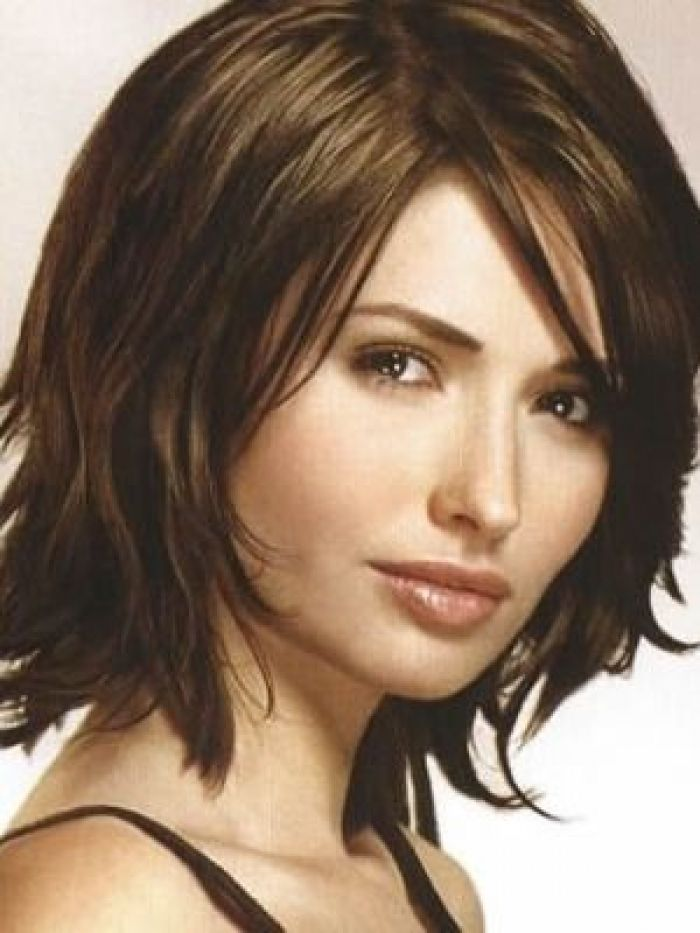 Medium Hairstyles Medium Haircuts For Thick Hairpictures Medium