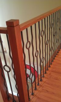 Baluster | Stair Remodel | Contemporary Iron Baluster ...