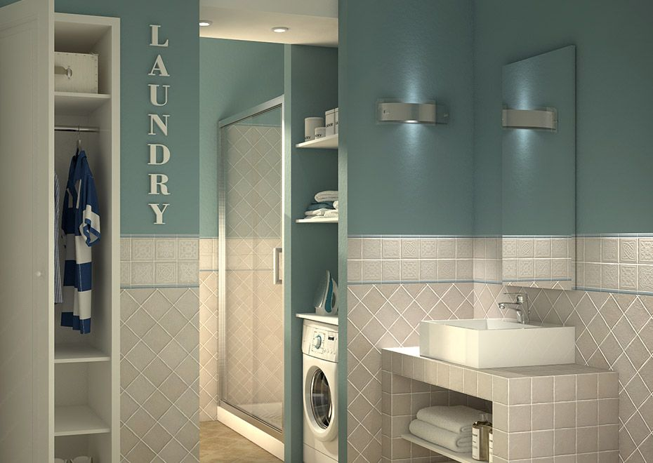 Bagno lavanderia con guardaroba una soluzione per la famiglia Leroy Merlin  bathroom