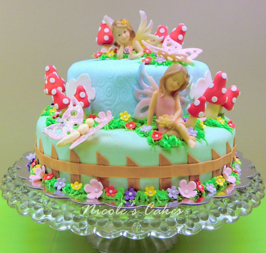 Garden Fairy Birthday Cakes Girls Birthday Cakes Pinterest