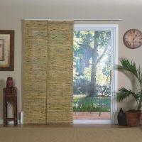 Lewis Hyman Natural Bamboo Panel Track Sliding Window ...