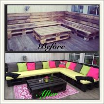 Wood Pallet Sectional Diy Furniture