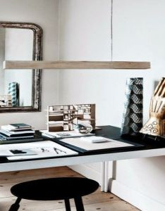 Inspiring home office beautiful light and decor in this interior  also rh za pinterest