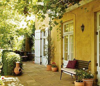 Mediterranean Style Garden Gardens Glazed And Mediterranean Garden