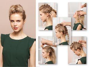 Haare Hochstecken Frisuren Zum Nachstylen Frisuren Pinterest