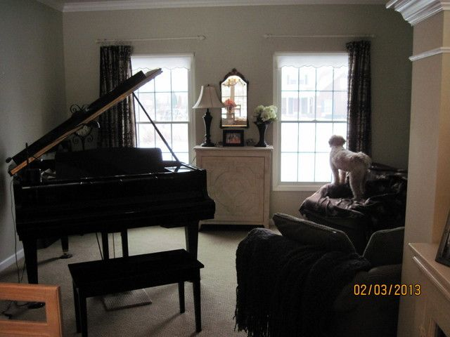 Decorating Around A Baby Grand Piano In A Small Living Room Home