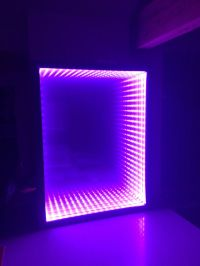 Infinity Mirror- DIY it's easy. Made from a box picture ...
