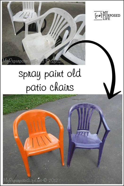 How To Spray Paint Plastic Chairs You Know Those Old White Have