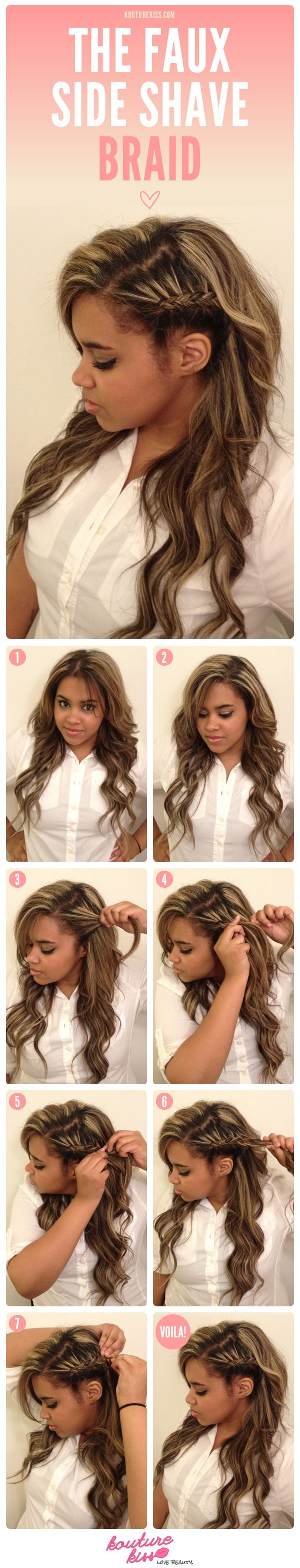 My Newest KoutureKiss Tutorial On 'The Faux Side Shave Braid