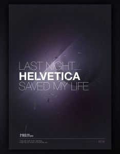 Last night helvetica saved my life iphone wallpaper also tobias van schneider portfolio typograph pinterest rh