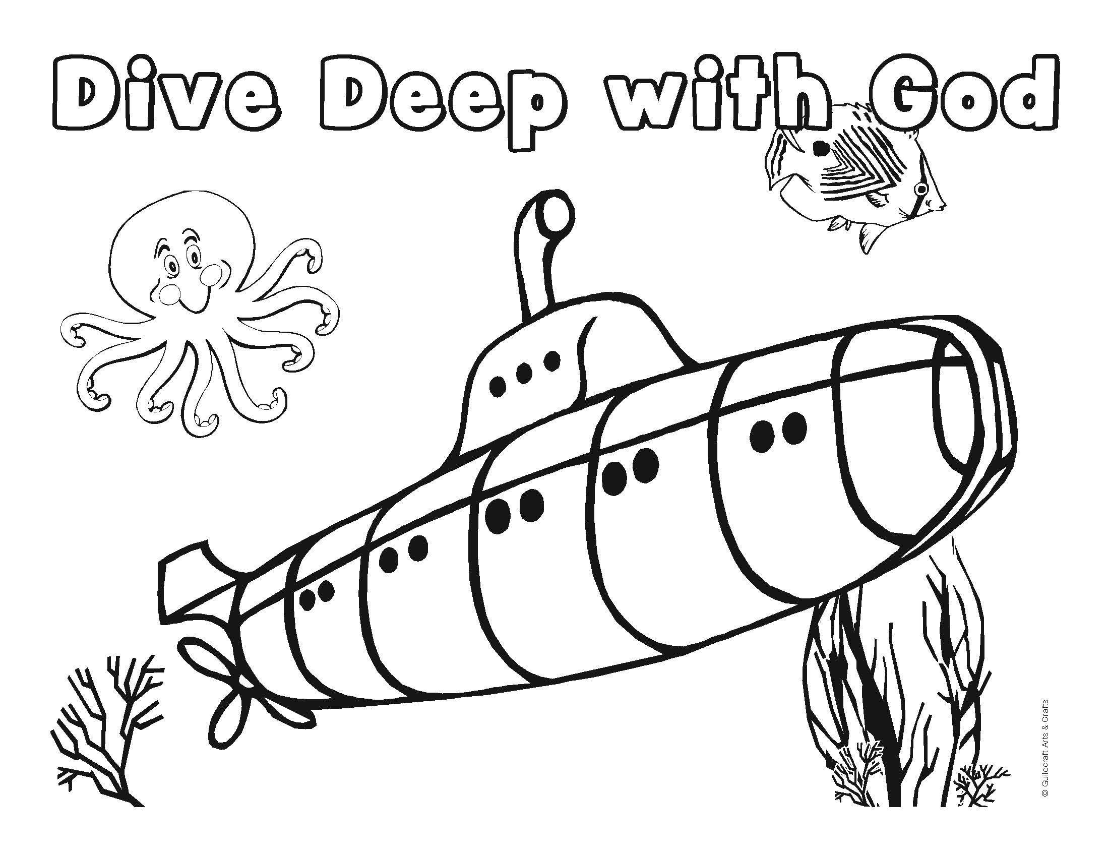 Vbs Underwater Coloring Sheet