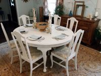 white distressed dining table | Living / Dining ...