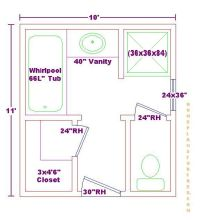 Master Bathroom Floor Plans 13 X 9 | Bath Ideas 10x11 ...