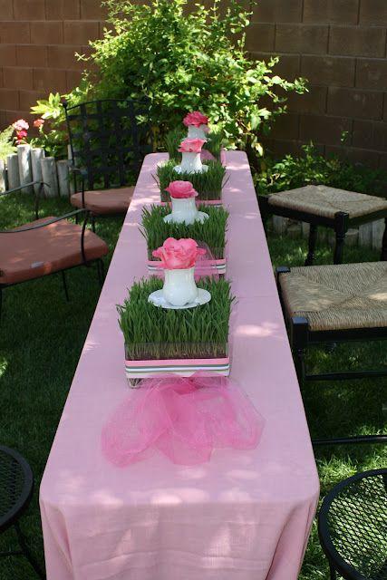 GORGEOUS Garden Tea Party Baby Shower Beautiful Wheat Grass