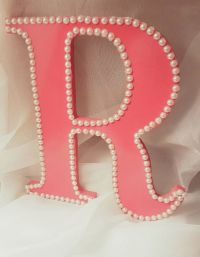 "Wooden Letter ""R"" for Girl's Room